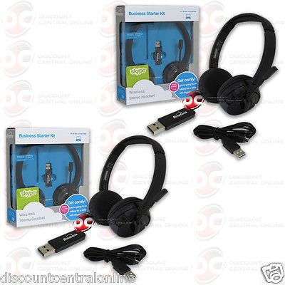 2 x BINATONE TALK-5193 WIRELESS HEADSET FOR PC LAPTOP TABLETS SMARTPHONES