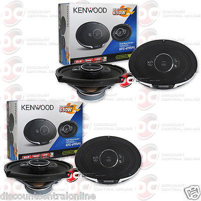 "4 x KENWOOD KFC-6995PS 6x9-INCH 5-WAY CAR AUDIO COAXIAL SPEAKERS 6"" x 9"""