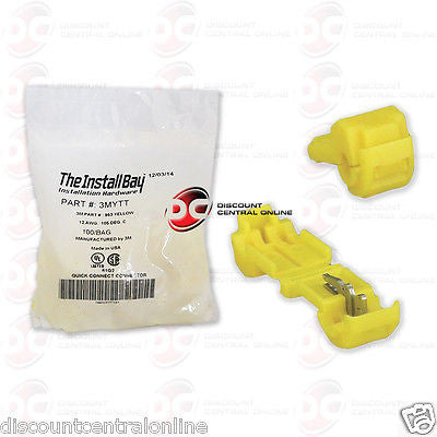 INSTALL BAY 3MYTT 3M YELLOW T-TAP 12/ 10 GAUGE 100 PCS COUNT