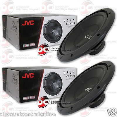"JVC 12"" Single 4-Ohm W Series Subwoofers Car Audio Shallow-Mount"