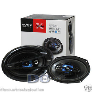 "BRAND NEW SONY 6 x 9"" 4-WAY CAR AUDIO COAX SPEAKERS (PAIR) 6x9"""
