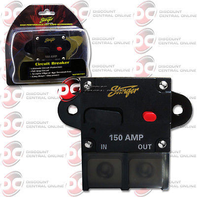 STINGER SGP901501 150 AMP CIRCUT BREAKER WITH MANUAL RESET