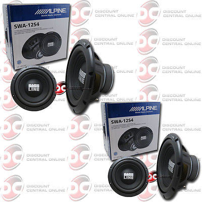 "2X ALPINE SWA-12S4 12"" 750W MAX (250W RMS) SINGLE-41-OHM CAR AUDIO SUBWOOFER"