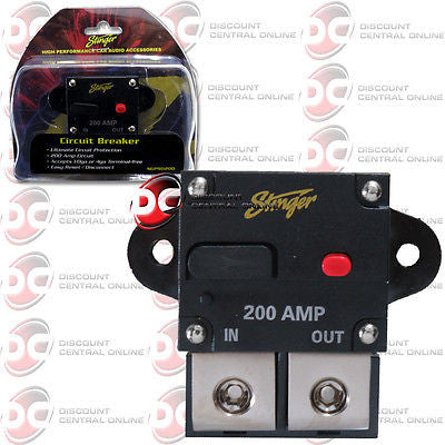 STINGER SGP90200 200 AMP 1/0GA OR 4GA CIRCUT BREAKER WITH MANUAL RESET