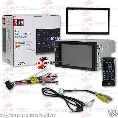 "DUAL DV605 CAR 2-DIN 6.2"" TOUCHSCREEN LCD CD DVD STEREO W/ AUX & USB INPUT"