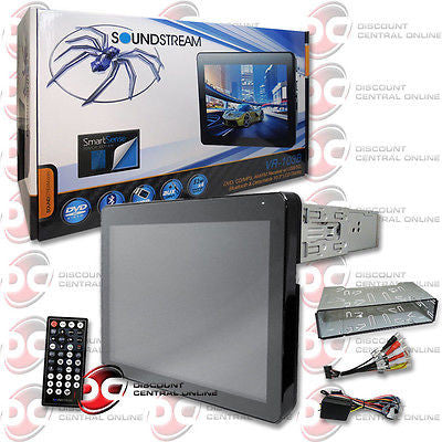 "2014 SOUNDSTREAM 1DIN 10.3"" LCD TOUCHSCREEN DVD CD PLAYER USB BLUETOOTH + REMOTE"