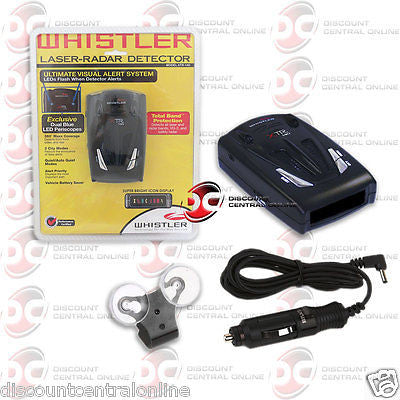 WHISTLER XTR-140 RADAR LASER DETECTOR DUAL ALERT LED PERISCOPE & BAND PROTECTION