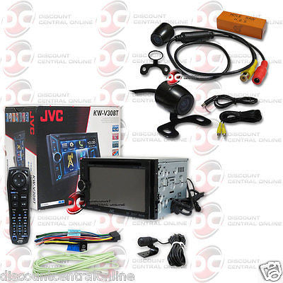 "JVC KW-V30BT CAR 6.1"" TOUCHSCREEN CD DVD BLUETOOTH STEREO FREE 170° REAR CAMERA"