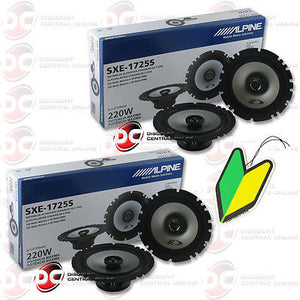 "Alpine SXE-1725S 6.5"" Car Audio Speakers and Free JDM Air Freshener (2 Pairs)"