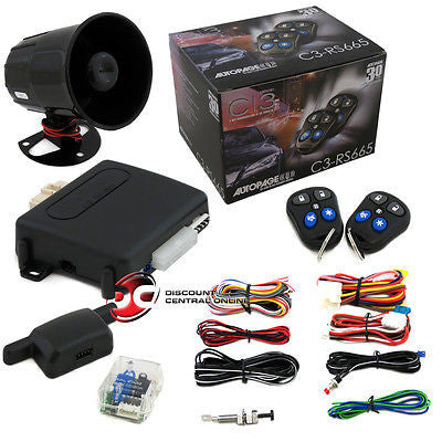 AUTOPAGE C3-RS665 3 CHANNEL CAR ALARM SYSTEM W/ REMOTE START
