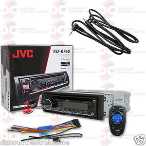 "JVC KD-R760 1-DIN CAR AUDIO STEREO CD MP3 AUX USB STEREO ""FREE"" 3.5mm AUX CABLE"