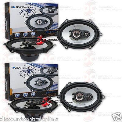 "2 x SOUNDSTREAM SF-573T 5 x 7"" 5 x 7-INCH 3-WAY CAR AUDIO SPEAKERS (PAIR) SF573T"