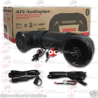 AUDIOPIPE ATVP1300BT DUAL AMPLIFIED CAR ATV OFF ROAD SOUND SYTEM W/ BLUETOOTH