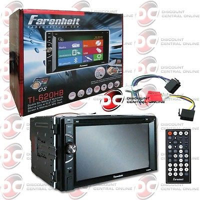 "FARENHEIT TI-620HB 2DIN 6.2"" TOUCHSCREEN LCD WITH BLUETOOTH MOBILE LINK + REMOTE"
