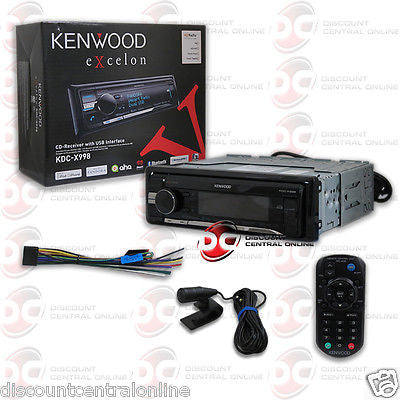 KENWOOD KDC-X998 1DIN CAR MP3 CD PLAYER W/ HD RADIO BLUETOOTH & PANDORA SUPPORT