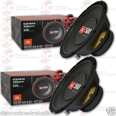 2 X JBL Cs1014 10-inch Single 4-ohm Car Audio Sub Woofer