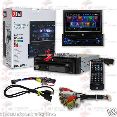 "2015 NEW DUAL DV725BH CAR DIN 7"" MOTORIZED DVD CD PLAYER W/ USB BLUETOOTH HDMI MIRROR"