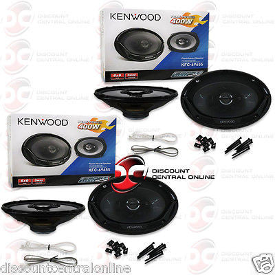 "2 x Kenwood KFC-6965S 6X9"" 3-way Car Audio Coaxial Speakers"