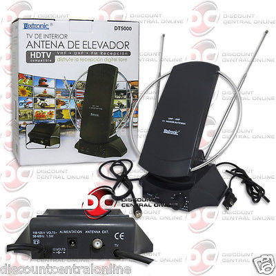 LUXTRONIC DT500 INDOOR TV BOOSTER ANTENNA HDTV COMPATIBLE VHF UHF FM RECEPTION
