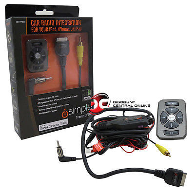 ISIMPLE IS77-PRO UNIVERSAL FM CAR INTEGRATION KIT WITH REMOTE FOR IPOD IPHONE