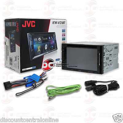 "JVC DOUBLE DIN 6.2"" TOUCHSCREEN CD DVD STEREO W/ BLUETOOTH IPHONE IPOD CONTROL"