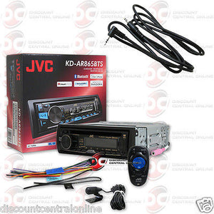 "JVC KD-AR865BTS 1-DIN CAR AUDIO CD MP3 BLUETOOTH STEREO ""FREE"" 3.5mm AUX CABLE"