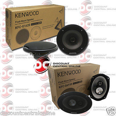 "PAIR OF KENWOOD PACKAGE 6x9"" CAR COAX 3-WAY SPEAKERS + 6.5"" 2-WAY COAX SPEAKERS"