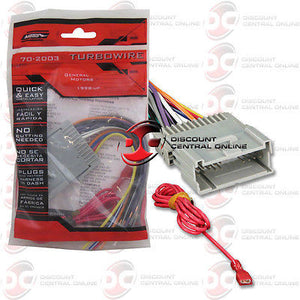 METRA 70-2003 WIRING HARNESS FOR SELECT 1998-2009 GMC VEHICLES