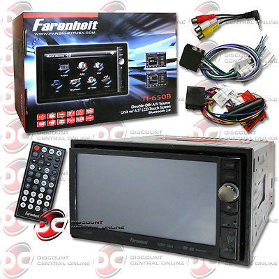 "FARENHEIT 2DIN TI-650B 6.5"" TOUCHSCREEN DVD CD PLAYER BLUETOOTH & IPOD CONTROL"