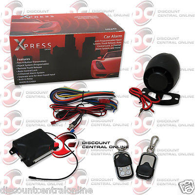 XPRESS 3-CHANNEL CAR ALARM SYSTEM WITH PROGRAMMABLE HIJACK SYSTEM