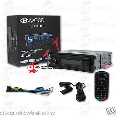 KENWOOD KDC-X599 1DIN CAR MP3 CD BLUETOOTH STEREO W/ PANDORA CONTROL & SIRI EYES