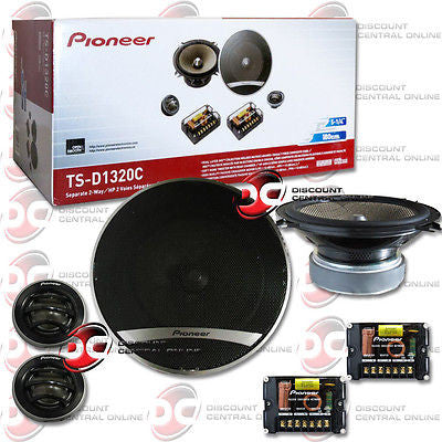 "PIONEER TS-D1320C 5-1/4"" CAR AUDIO 2-WAY COMPONENT SPEAKER SYSTEM (PAIR) 5.25"""