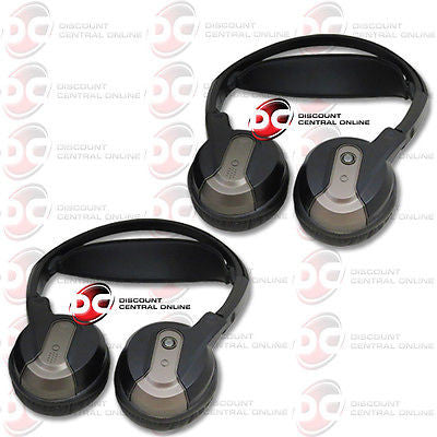 2 x ROSEN AC3640 DUAL CHANNEL WIRELESS FOLDABLE INFRARED HEADPHONES