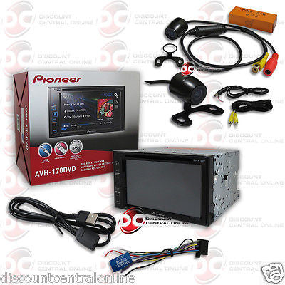 "PIONEER AVH-170DVD 6.2"" TOUCHSCREEN DVD CD CAR STEREO ""FREE"" 170° REAR CAMERA"