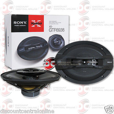 "2015 BRAND NEW SONY 6x9"" 3-WAY CAR AUDIO COAXIAL SPEAKERS (PAIR)"