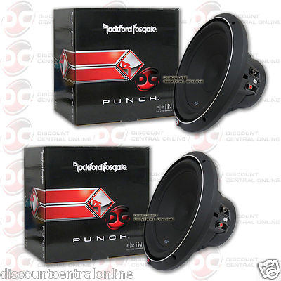 "2 x ROCKFORD FOSGATE P2D4-12 12"" 12-INCH CAR AUDIO DUAL 4-OHM SUBWOOFER 400W RMS"