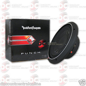 "ROCKFORD FOSGATE P3SD4-10 10"" DUAL 4-OHM CAR AUDIO SHALLOW MOUNT SUBWOOFER 300W"