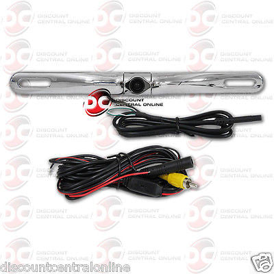 CAR UNIVERSAL HD REAR VIEW BACK-UP CAMERA LICENSE PLATE MOUNT (CHROME)