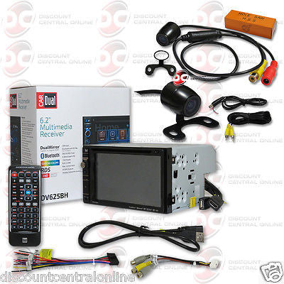 "DUAL DV625BH CAR 2-DIN 6.2"" TOUCHSCREEN BLUETOOTH STEREO FREE 170° REAR CAMERA"