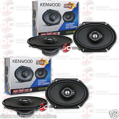 "4 x KENWOOD KFC-C6895PS 6"" x 8"" 3-WAY CAR AUDIO COAXIAL SPEAKERS"