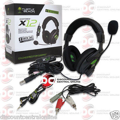 TURTLE BEACH X12 EAR FORCE WIRED AMPLIFIED SURROUND GAMING HEADSET PC MAC XBOX