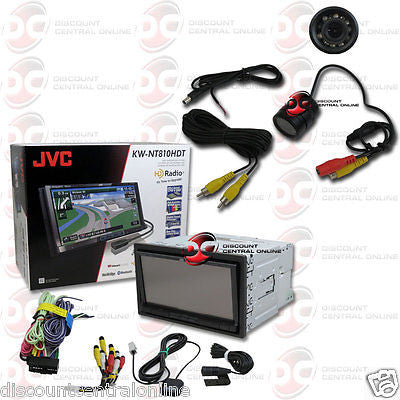 "JVC KW-NT810HDT CAR 2DIN 7"" SCREEN DVD BLUETOOTH GPS STEREO FREE REARVIEW CAMERA"