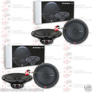 "4 x ROCKFORD FOSGATE R1675X2 6.75"" 2-WAY CAR AUDIO COAXIAL SPEAKERS"