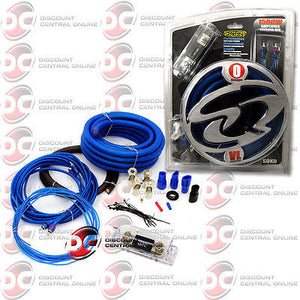 BRAND NEW SOUNDQUEST SQK0 1/0 GAUGE COPPER CLAD ALUMINUM AMPLIFIER WIRING KIT