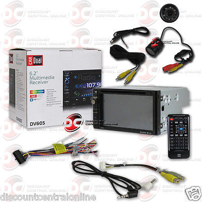 "DUAL DV605 CAR 2-DIN 6.2"" TOUCHSCREEN LCD CD DVD STEREO ""FREE"" REARVIEW CAMERA"