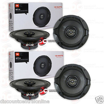 2 x BRAND NEW JBL BY HARMAN GT7-6 6.5-INCH 2-WAY CAR AUDIO COAX SPEAKERS (PAIR)