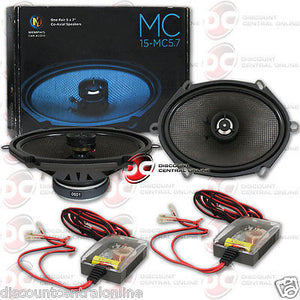 "BRAND NEW MEMPHIS 5 x 7-INCH 5 x 7"" CAR AUDIO COAX COAXIAL SPEAKERS (PAIR)"