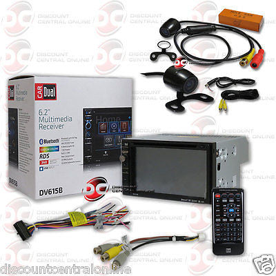 "DUAL DV615B CAR 2-DIN 6.2"" TOUCHSCREEN BLUETOOTH STEREO ""FREE"" 170° REAR CAMERA"