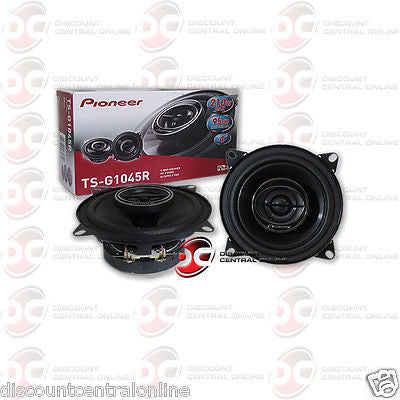"Pioneer TS-G1045R  4"" 2-way Car Audio Coaxial Coax Speakers"