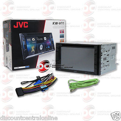 "2015 JVC KW-V11 2DIN 6.2"" TOUCHSCREEN CD DVD STEREO W/ IPOD SUPPORT APPLINK & PANDORA"